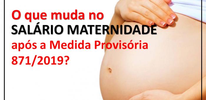 ATENÇÃO PARA A NOVA REGRA SOBRE SALÁRIO MATERNIDADE